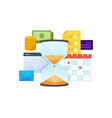 concept time management technology vector image vector image