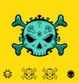 coronavirus skull symbol vector image vector image