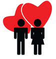 couple in love color vector image vector image