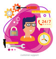 customer support or technical support concept vector image vector image
