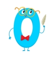 Cute and funny colorful 0 number characters vector image vector image