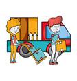 delivery service cartoon vector image vector image