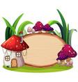 enchanted magic house banner vector image vector image