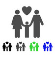 family love flat icon vector image vector image