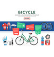 flat bicycle elements set vector image vector image