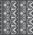 french or english lace seamless pattern white vector image