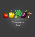 Fresh vegetables and sign vector image vector image