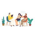 group therapy psychotherapeutic meeting vector image