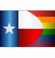 grunge texas and gay flags vector image vector image