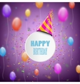 Happy Birthday Composition With Blur Background vector image vector image
