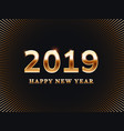 happy new year card friends surprise party vector image