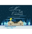 Happy New Year card or poster vector image vector image