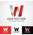 hi-tech trendy initial icon logo w vector image