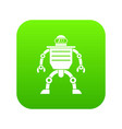 humanoid robot icon digital green vector image vector image