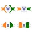 India Independence Day festive Labels Set vector image
