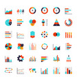 infographics elements data analysis chart modern vector image