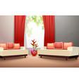 Interior design living room vector image vector image
