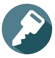 key and password icon vector image vector image