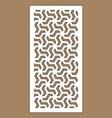 laser cutting arabesque decorative panel vector image vector image