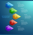 light business infographic concept vector image vector image