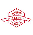 made in italy red seal icon vector image