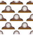 Mantel clock Seamless pattern Decorative vector image vector image