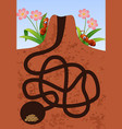 maze game help the ants to find home under ground vector image