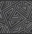 metal maze pattern vector image vector image