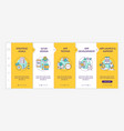 mobile app development process onboarding template vector image