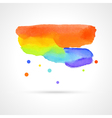 multicolor watercolor cloud vector image vector image