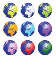 planet earth set color vector image vector image
