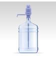 pump water cooler vector image vector image
