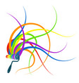 roller with paint abstract vector image vector image