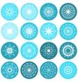 Round Ornament Set vector image