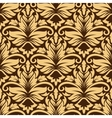 Seamless arabesque pattern in brown and beige vector image