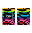 set design poster in color rainbow stripes vector image vector image