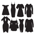 set modern dresses for women in realistic vector image
