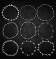 set of decorative wreaths doodle vector image vector image