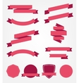 set of empty retro ribbons vector image