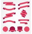 set of empty retro ribbons vector image vector image