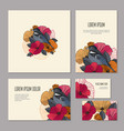 set of floristic elements of corporate identity vector image vector image