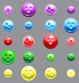 Set of glossy button vector image vector image