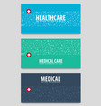 set of medical banners medical care health care vector image