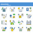 set of school education icons in thin line vector image
