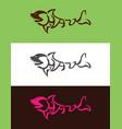 shark typography vector image