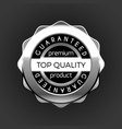 silver top quality premium sale badge vector image vector image