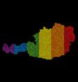 spectrum pixel austria map vector image
