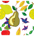 spring fruit pattern vector image vector image