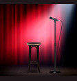 stand up show realistic vector image