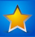 stylish star over blue backdrop eps 10 vector image vector image